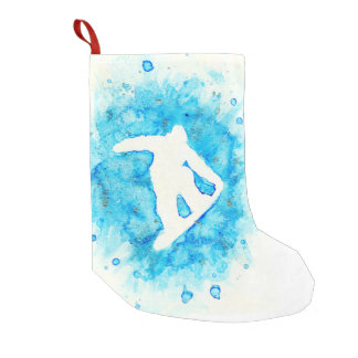 Snowboardingstrumpa Liten Julstrumpa