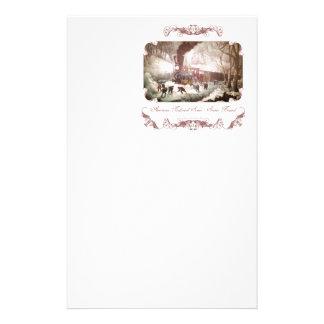 Snowbound tågbrevpapper brevpapper