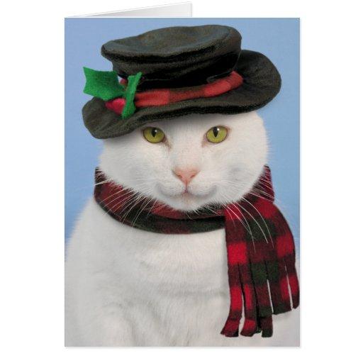 Snowcat julkort hälsnings kort
