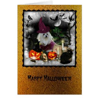 Snowdrop det maltesiska Halloween hälsningkortet Hälsningskort