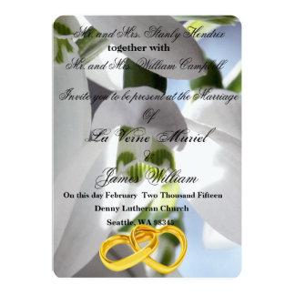 Snowdrops bröllop 12,7 x 17,8 cm inbjudningskort