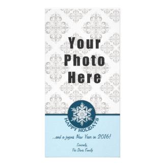 Snowflake 4x8 för glad helgblåttpapper fotokort