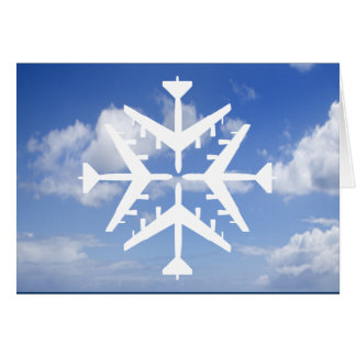 Snowflake för flygplan B-52 Hälsningskort
