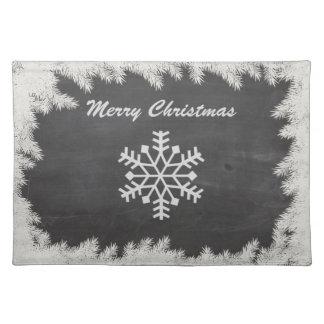 Snowflake för jul för chic vinter för svart tavla bordstablett