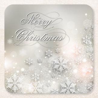 Snowflake för julhelgdagelegant underlägg papper kvadrat