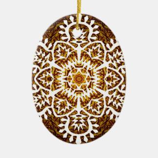 Snowflake för nytt år julgransprydnad keramik