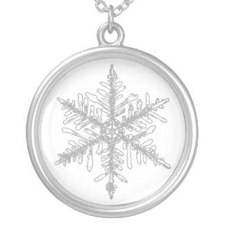 Snowflake Silverpläterat Halsband