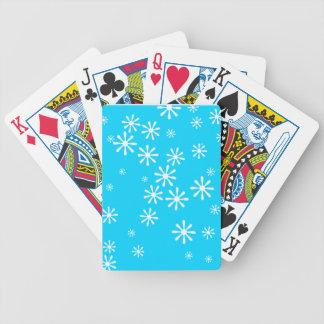 Snowflake som leker kort spelkort