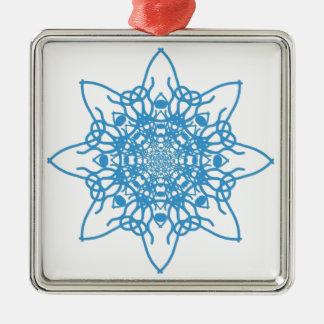 Snowflakeblått Julgransprydnad Metall