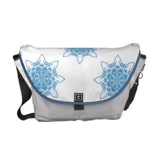 Snowflakeblått Kurir Väskor