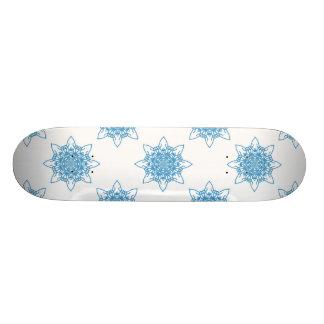 Snowflakeblått Mini Skateboard Bräda 18,5 Cm