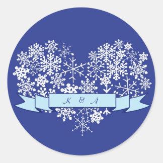Snowflakehjärta med klistermärken för