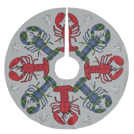 Snowflaken för trädkjolhumret ankrar N.S. Jul Julgransmatta Borstad Polyester