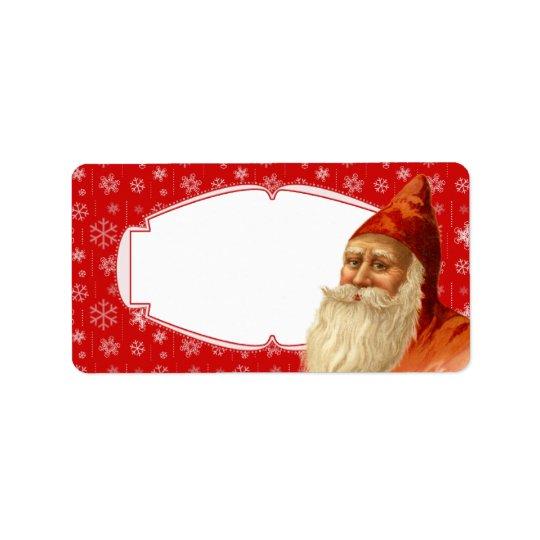 SnowflakeSanta juletiketter/som postar Labe Adressetikett