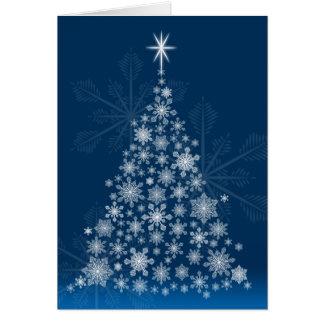 Snowflaketrädjulkort Hälsningskort
