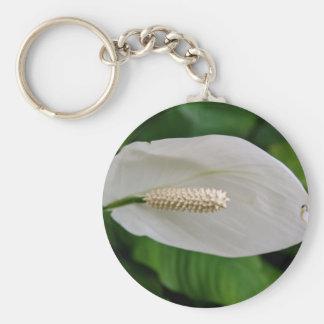 Snowflower Keychain Rund Nyckelring