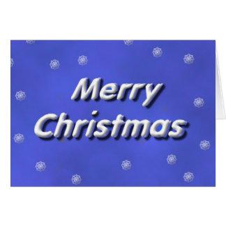 Snowing för god jul hälsningskort