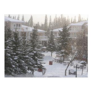 Snowing på Fairmont Hot Springs Vykort