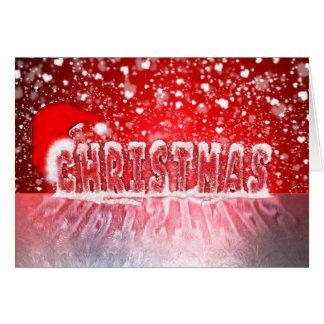 Snowing på julhälsningkort hälsningskort