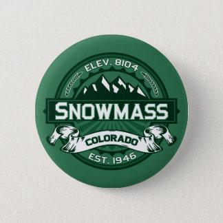 """Snowmass """"Colorado grönt"""" logotyp Standard Knapp Rund 5.7 Cm"""