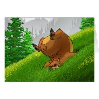Snubbla björnkort hälsningskort