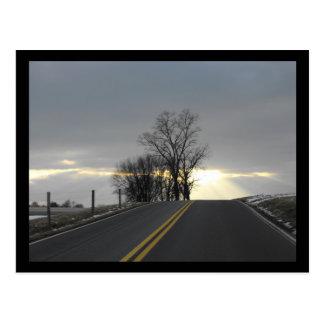 Snubbla för väg vykort