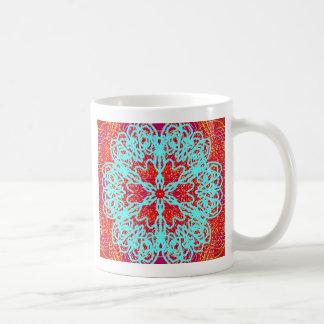 Snubbla hjärtamandalaen kaffe mugg