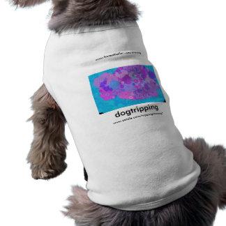 Snubbla purpurfärgade Pansies Långärmad Hundtöja