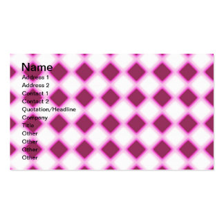 Snubblad ut checkers set av standard visitkort