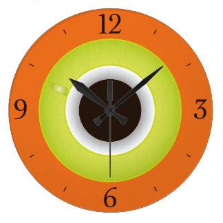 Snyggt för kaffeTime orange Stor Klocka