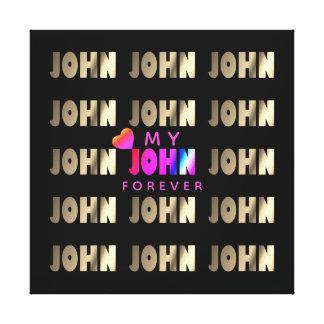 Snyggt smart John Canvastryck