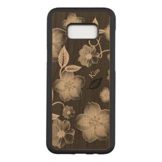 Snyggten blommar det beställnings- träSamsung S8 Carved Samsung Galaxy S8+ Skal