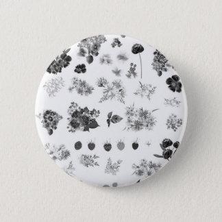 Snyggten knäppas med romanska blommor standard knapp rund 5.7 cm