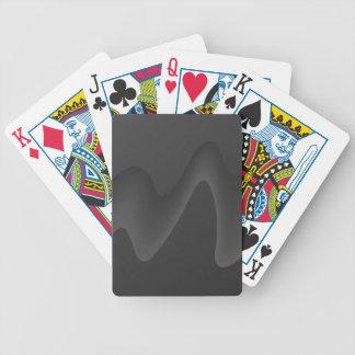 Snyggten vinkar design i mörk - grått. spelkort