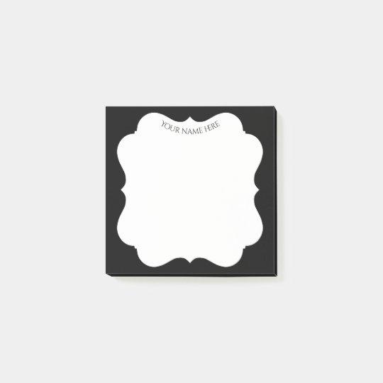 Snyggtsvartram med ditt namn post-it lappar
