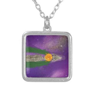 Sobek-Ra simning Silverpläterat Halsband