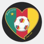 """Soccer """"CAMEROON"""" FOOTBALL Team, Fútbol de Camerún Runt Klistermärke"""
