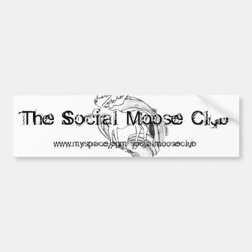 Social älgklubbbildekal bildekal