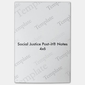 Social rättvisa Postar-it® noterar 4x6 Post-it Block