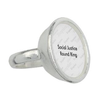 Social rättvisarundaring ring med foto