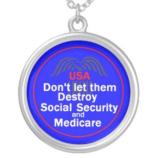 Socialförsäkringhalsband Silverpläterat Halsband
