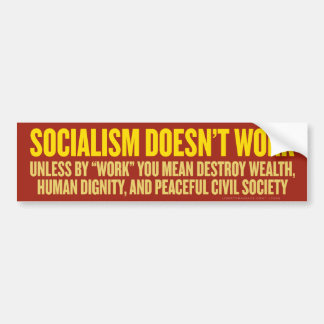 Socialismen fungerar inte bildekalet bildekal