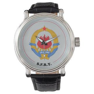 Socialistisk Federal Republic of Yugoslavia Emblem Armbandsur