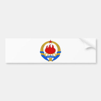 Socialistisk Federal Republic of Yugoslavia Emblem Bildekal
