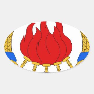 Socialistisk Federal Republic of Yugoslavia Emblem Ovalt Klistermärke