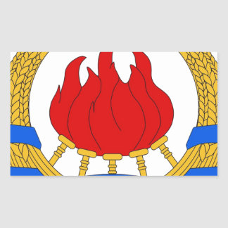 Socialistisk Federal Republic of Yugoslavia Emblem Rektangulärt Klistermärke