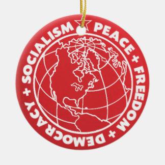 Socialistisk fredprydnad julgransprydnad keramik