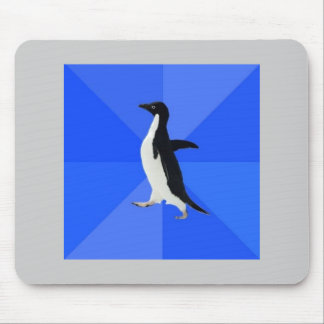 Socialt konstigt pingvinrådgivningdjur Meme Musmattor