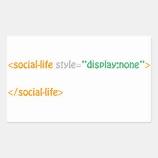 socialt liv - direktiv rektangulärt klistermärke