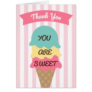 Socialt tackkort för söt glass OBS kort